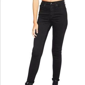 Topshop Jamie moto jeans. Black. High rise